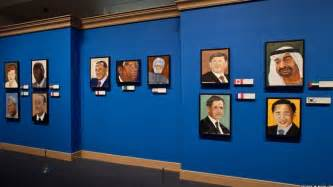 out of the bathroom president bush paints world leaders