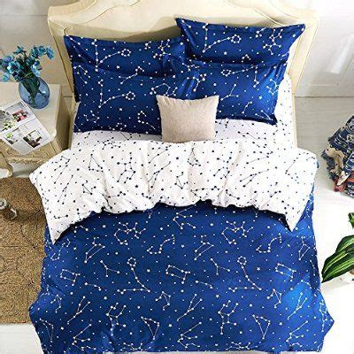 constellation bedding esydream home bedding blue color constellation 4pc duvet cover sets space style kids
