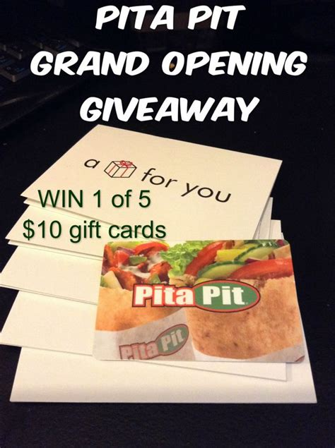 Pita Pit Gift Card - 17 best ideas about gift cards canada on pinterest pocket cards button tag and