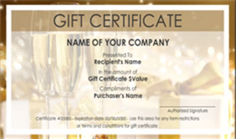 anniversary gift certificate template anniversary gift certificate templates easy to use gift