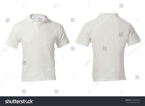 polo shirt template front and back mens blank white polo shirt front stock photo 168454646