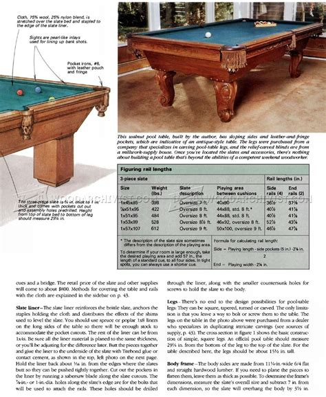 how to build a pool table build pool table woodarchivist