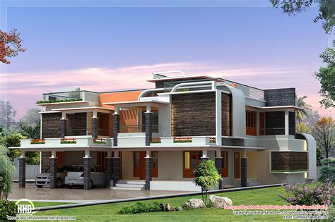 Modern Villa Plans by Unique Modern Villa Design Kerala Home