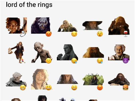 Lord Of The Rings Stickers
