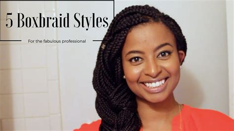 box braid styles for work how i style box braids for work 5 easy professional