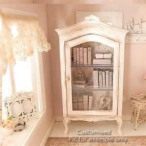Dolls House Kitchen Furniture meuble vitrine shabby chic blanc miniature lati yellow