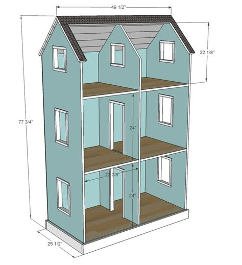 how to make ag doll house best 25 doll house plans ideas on pinterest