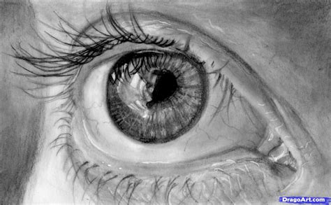 A Drawing Of An Eye by How To Draw In Pencil Draw With Pencil Step By