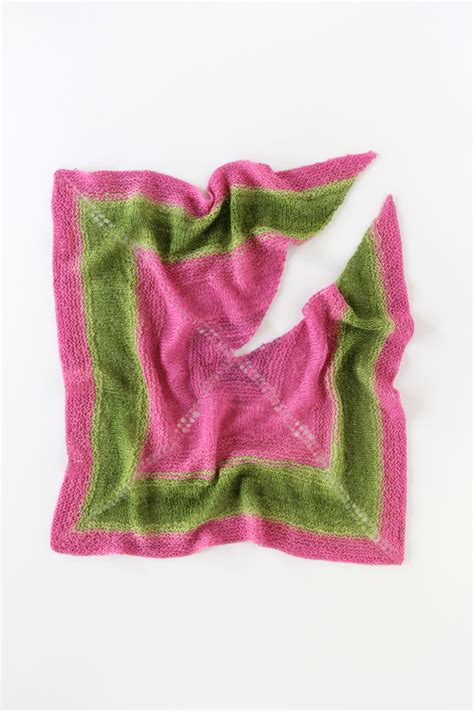 knitting pattern scarf 4mm needles top notched shawl