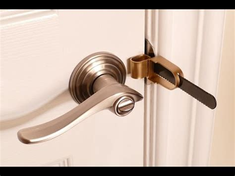 bedroom door locks from outside portable door lock for hotels home or dorm youtube
