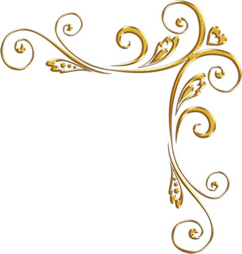 golden pattern png elegant gold corner border