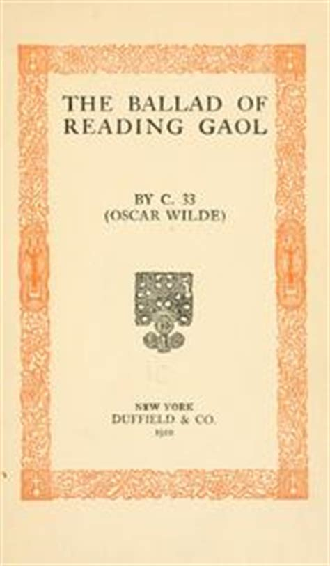 ballad of reading gaol books the ballad of reading gaol 1910 edition open library