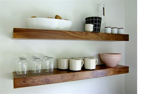 Floating Walnut Shelf black walnut floating shelf 48