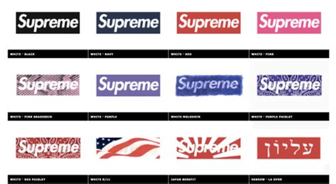 supreme box logo 20 years of supreme box logo in 1 single gif animation