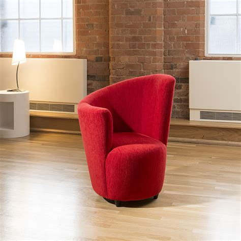 red fabric armchair modern large curved red fabric armchair armchairs tub chair chairs ebay