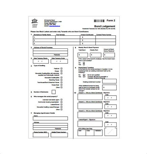 bond receipt template 27 rental receipt templates doc pdf free premium