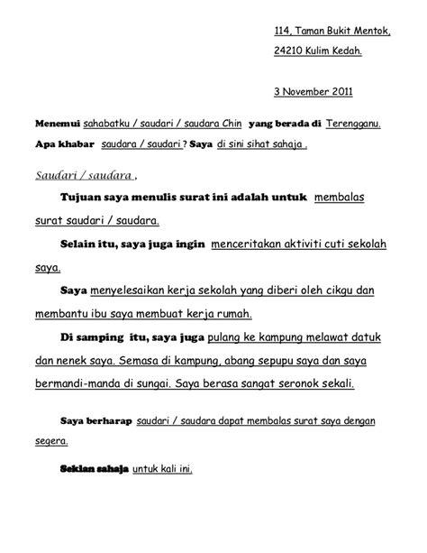 contoh surat tidak resmi untuk nenek 28 images contoh surat