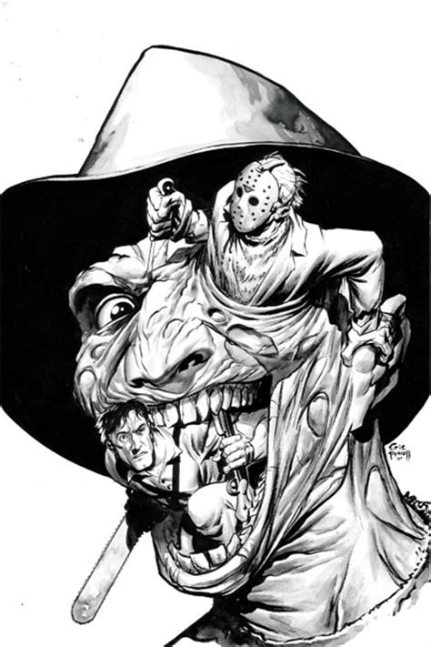 Wildstorm Nightmare On Elm Street Companion Ultimate Freddy Vs Jason Coloring Pages