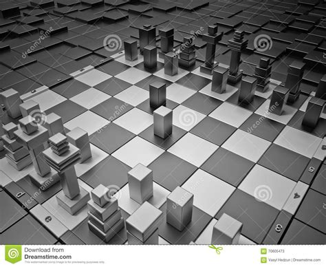 futuristic chess set futuristic chess board stock illustration image 70605473