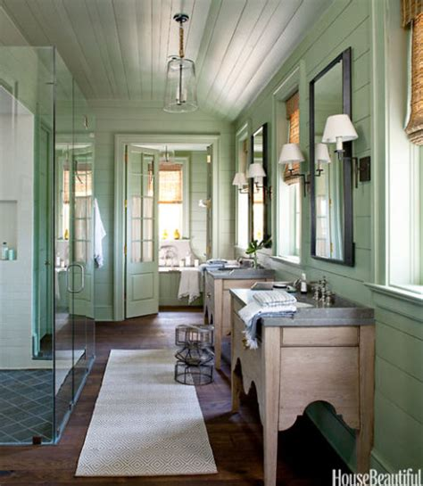 lake house bathroom green color bathroom decorating ideas