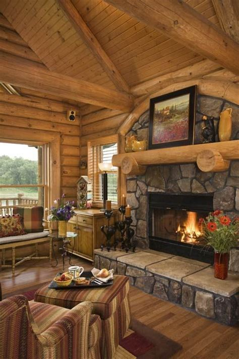 Armands Fireplace by Log Cabin Fireplace Rustic Homes And Interiors