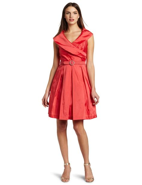 design dress collars eliza j womens shawl collar coral dress formal cocktail