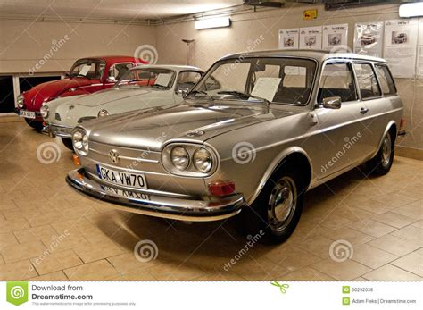vintage volkswagen sedan vintage vw cars in a car museum editorial stock photo