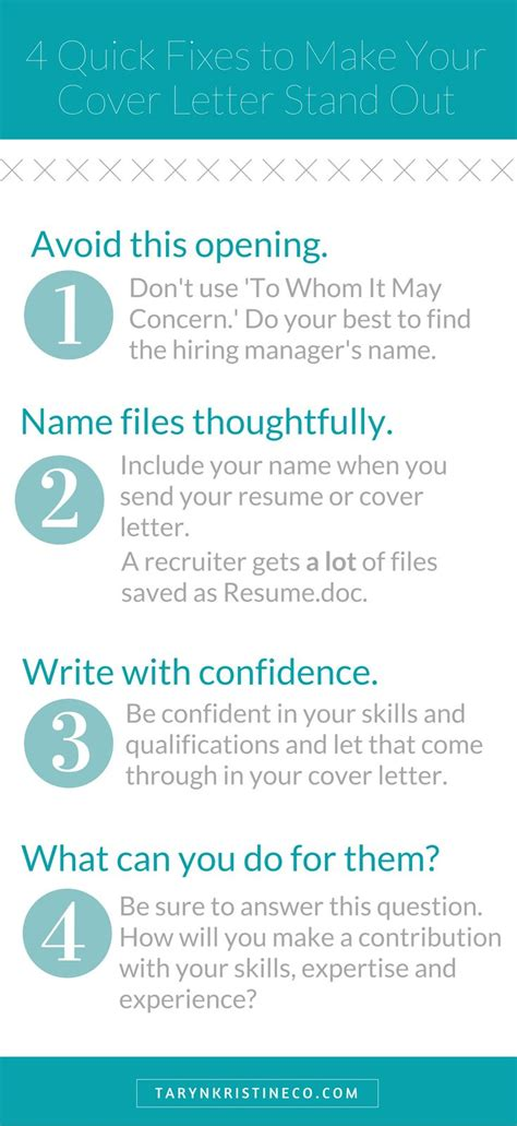 how to make my cover letter stand out career infographic these tips will show you how to make