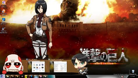 Theme Line Attack On Titan | theme win 7 shingeki no kyojin theme window