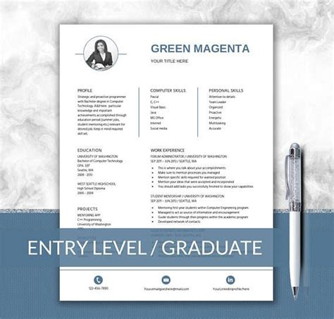 Entry Level For Mba Graduates In Uk by 64 Best Cv Resume Images On Resume Template