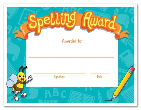 search results for spelling bee award certificate