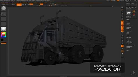 tutorial zbrush 4r7 modeling a truck with pixolator in zbrush