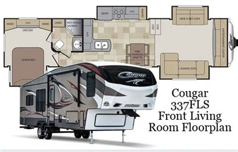 fifth wheel floor plans front living room keystone cougar floor plans images roaming times rv news