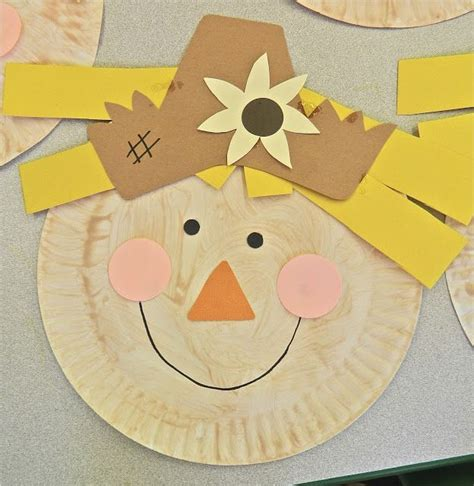 Scarecrow Paper Plate Craft - paper plate scarecrow craft terrific preschool years