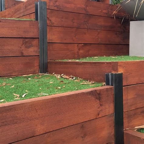 Treated Pine Sleepers Bunnings by Ironwood 200 X 50mm 2 4m Treated Pine Sleeper