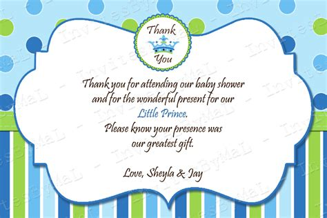template baby shower thank you card tips to create baby shower thank you notes invitations