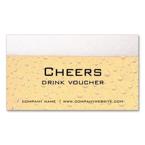 Business Card Voucher Template bar restaurant or brewery drink vouchers voucher card