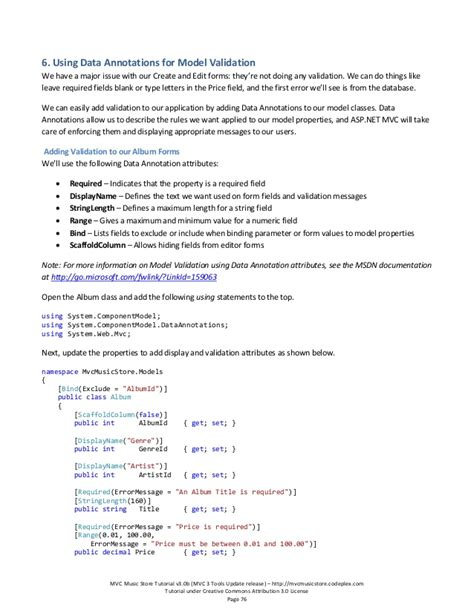 pattern annotation validation mvc music store tutorial v3 0