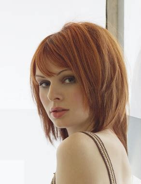 aveda hairstyles gallery a medium red hairstyle from the aveda collection no 7093