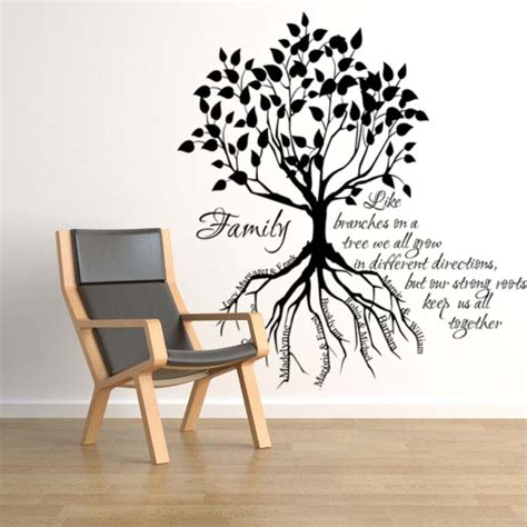 wall stickers family tree family tree root names wall decals trading phrases