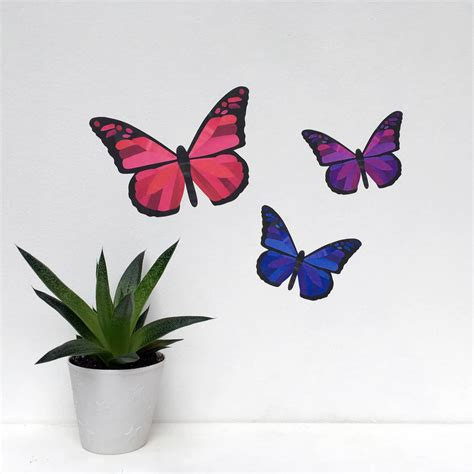 purple butterfly wall stickers pink and purple butterfly wall stickers by chameleon wall