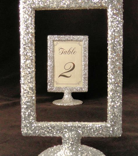 Glitter Wedding Decor Picture Frame Table Number Holders