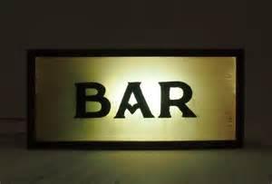 bar sign light lettering bar vintage wooden lightbox sign light