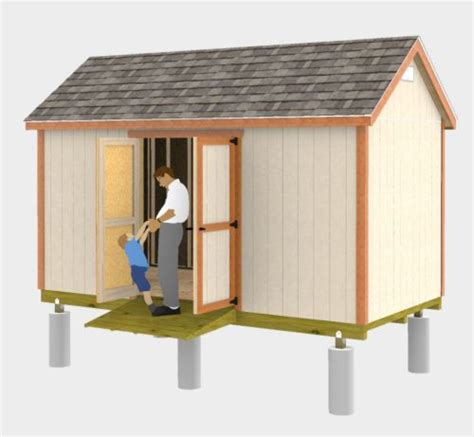 8x16 Shed Plans by Easy To Build 8x16 Gable Shed