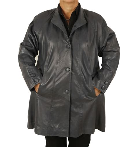 plus swing coat plus size 22 24 3 4 length navy leather swing coat from