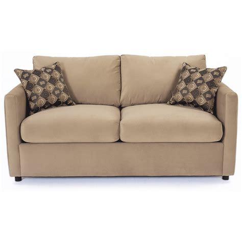 rowe sleeper sofa rowe stockdale contemporary two cushion sleeper sofa