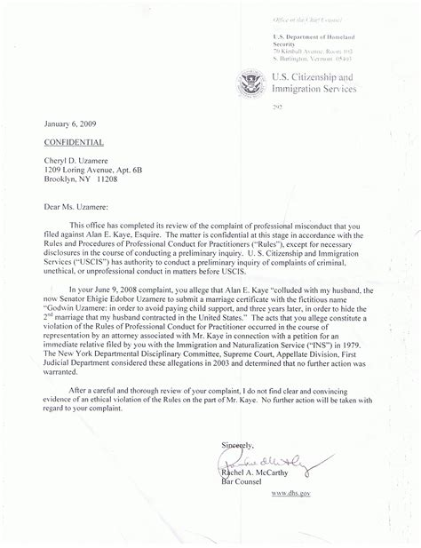Employment Verification Letter Sle Uscis Will Attorneys Sign Affirmation Or Will They Conspire To Hide Allen Kaye S Crimes