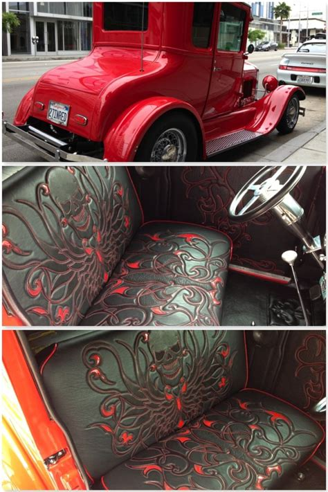 hot rod upholstery 1927 ford hot rod interior by logan riese studios bd