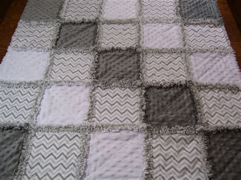 Grey Quilt by Baby Rag Quilt Rag Quilt Gray And White Baby Quilt Gray And