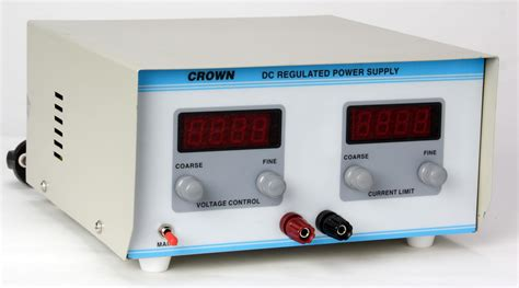 Dc Regulated Power Supply dc regulated power supply 0 30v 2a manufacturers exporters india crown electronic systems